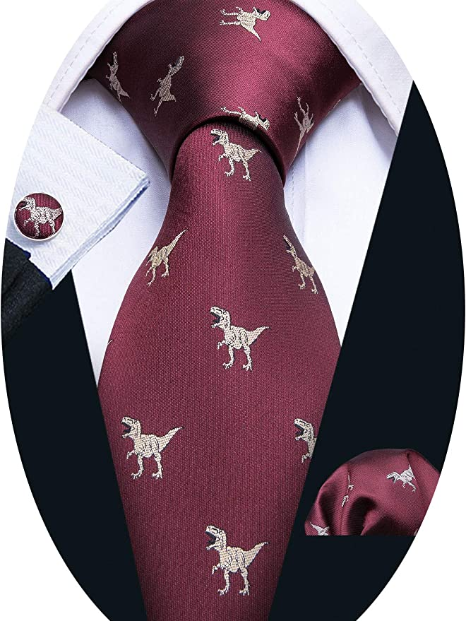 Fun Silk Necktie With A Bicycle Print made In The USA