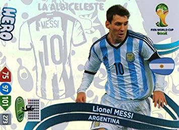 FIFA World Cup 2014 Brazil Adrenalyn XL Update Lionel Messi Hero