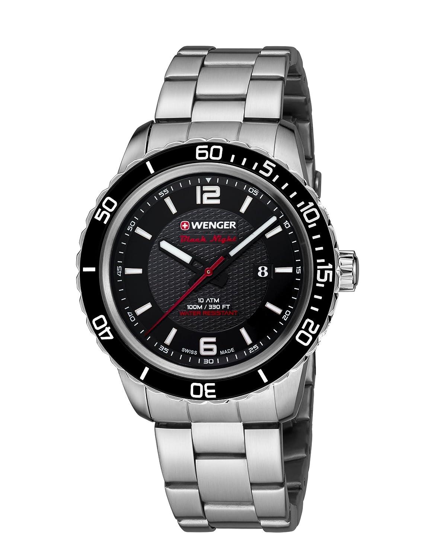 WEGNER Unisex-Armbanduhr 01.0851.122 ROADSTER BLACK NIGHT Analog Quarz Edelstahl 01.0851.122 ROADSTER BLACK NIGHT