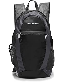 NeatPack Durable, Foldable Nylon Backpack Daypack with Security Zippers, 20L 02cd7279a7