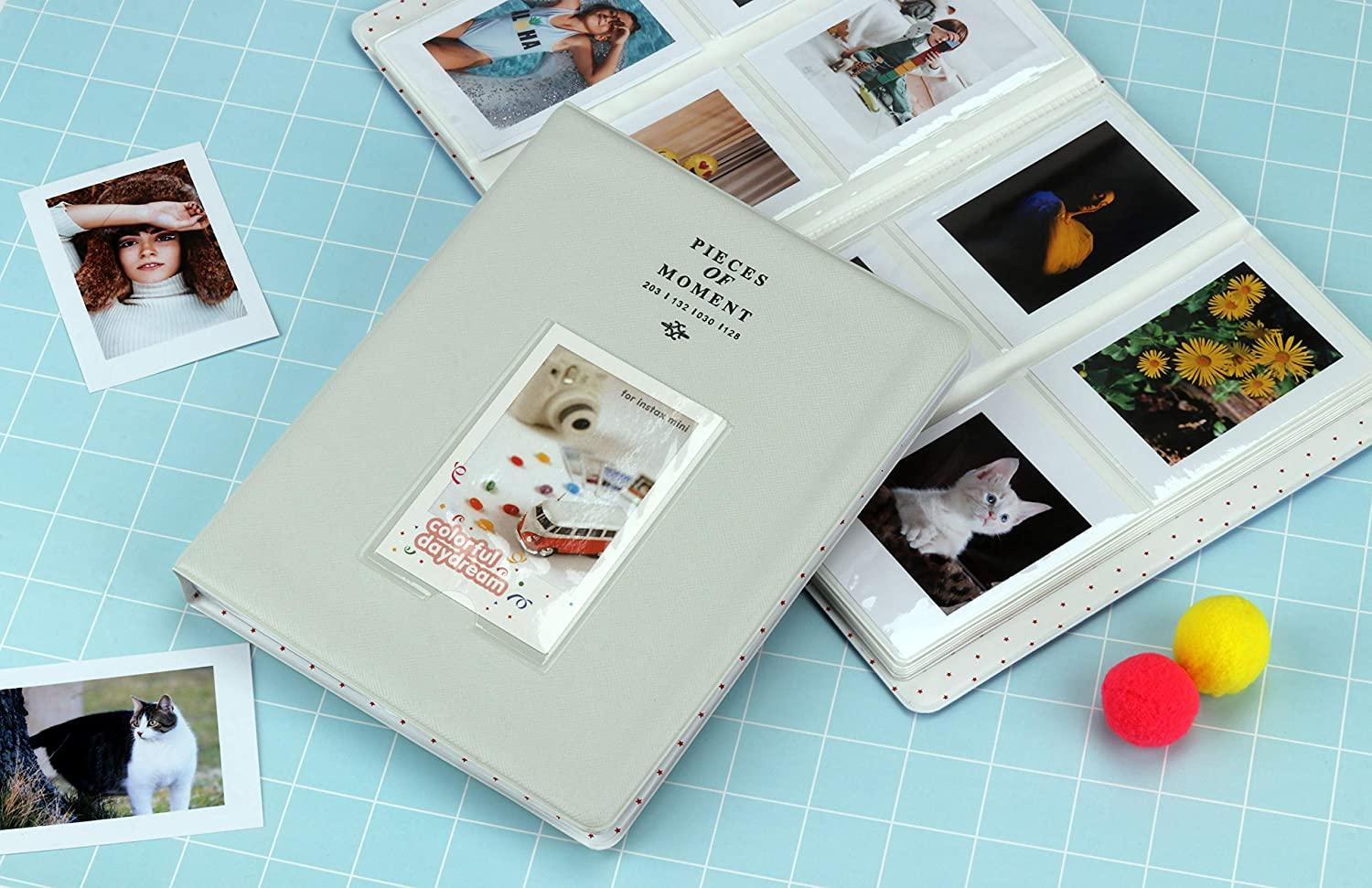 8 7s 25 26 50s 70 90 CELION 128 Pockets Photo Album for Fujifilm Instax Mini 11 9 8 Pink