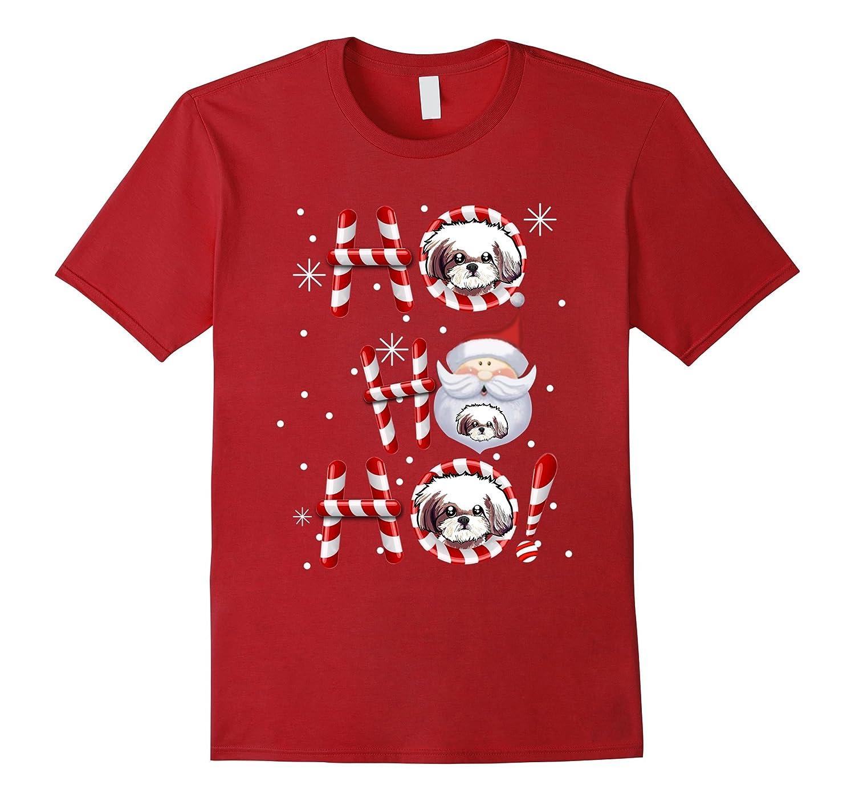 Shih Tzu Christmas 2017 Ho Ho Ho Tshirt puppies Gifts