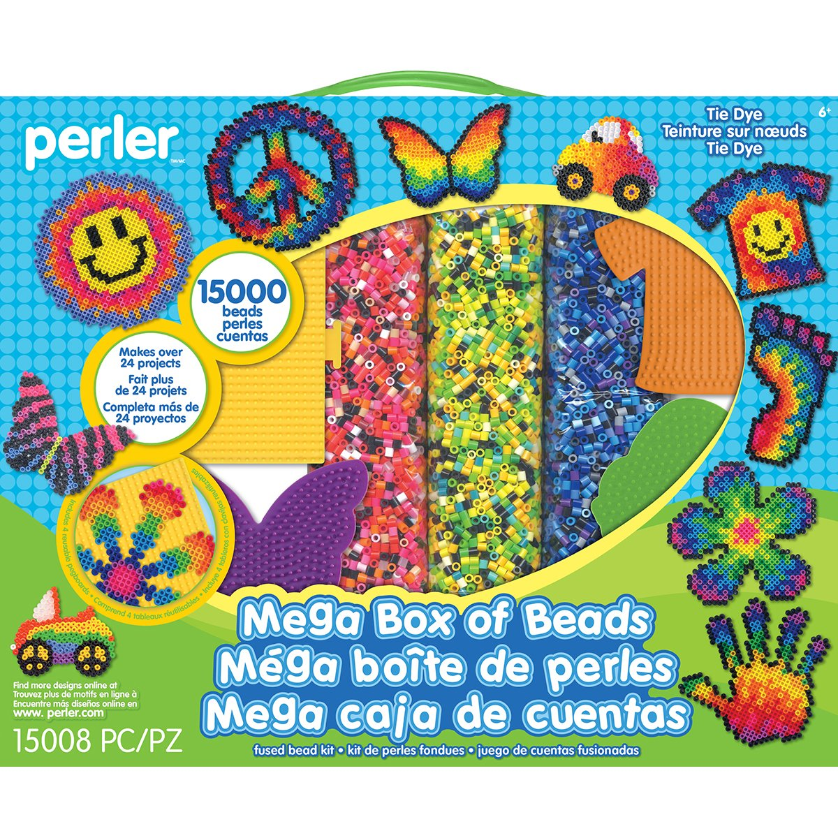 Perler 80–54180 Mega Fused Bead Kit, mehrfarbig