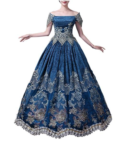 Con Vittoriano Abito Vestito Medievale Vintage Donna Crinolina L35RA4jq
