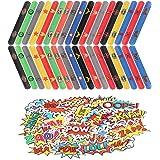 HXDZFX Superhero Slap Bracelets - 42PCS The Avengers Slap Bracelet for Kids Boys - The Avengers Birthday Party Supplies Favor