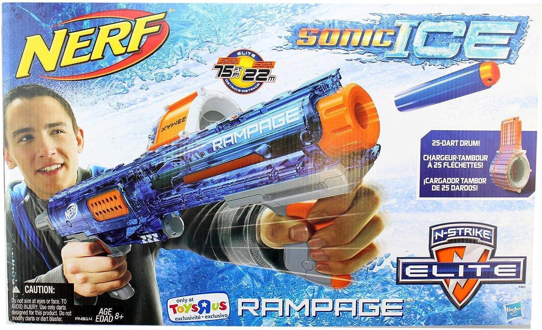 Amazon Com Nerf Nstrike Elite Rampage Sonic Ice Series Blaster