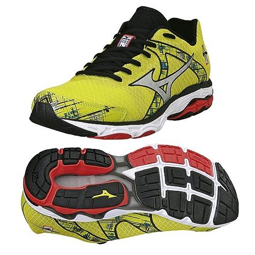 Mizuno Wave Inspire 10 Road Running Shoes White Black DazzlingBlue Mens UK  11.5  Amazon.it  Sport e tempo libero 1e61ebbf682