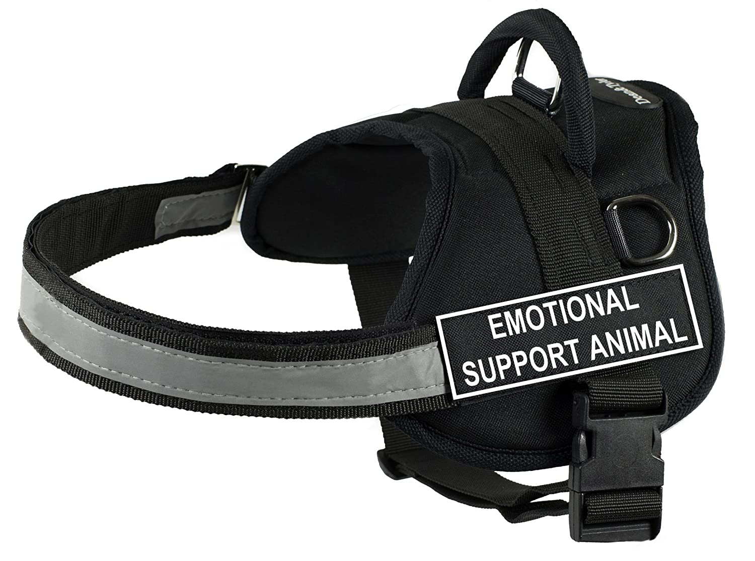 Dean & Tyler Works Harness, Emotional Support Animal, Medium-Fits Girth, 71cm to 97cm, Black White