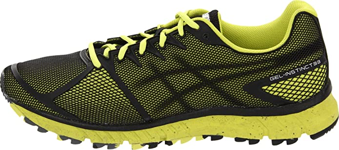 9a03a4d4003a ASICS Gel-instinct33 Trail Running Shoe Onyx Black Electric Yellow 12.5  D(M) US  Buy Online at Low Prices in India - Amazon.in