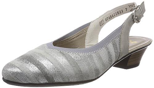 Details zu Rieker Damen Pumps grau metallicnebbia (metallic) 58063 90
