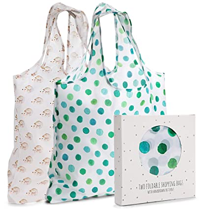 7d3714fc485ec Momiji Reusable Grocery Shopping Bags, Polyester, Set of 2, with Handles -  Large