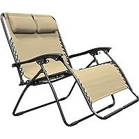 Caravan Sports Zero Gravity Chair Loveseat, Beige