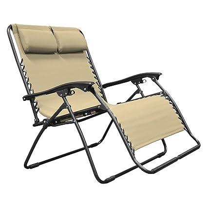 Beau Caravan Sports Zero Gravity Chair Loveseat, Beige