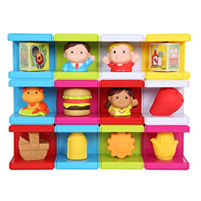 Safety First Cubikals Stack 'n Play 12 Block Set - BBQ/Picnic Set 3: Toys & Games