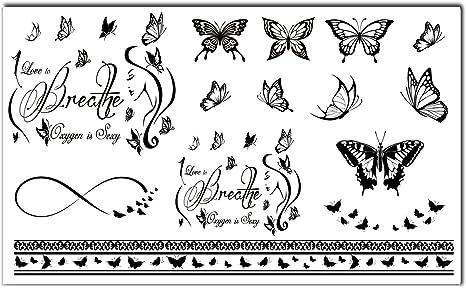 Bling Arte Temporal Tatuajes tatuajes tribales negros Breathe ...