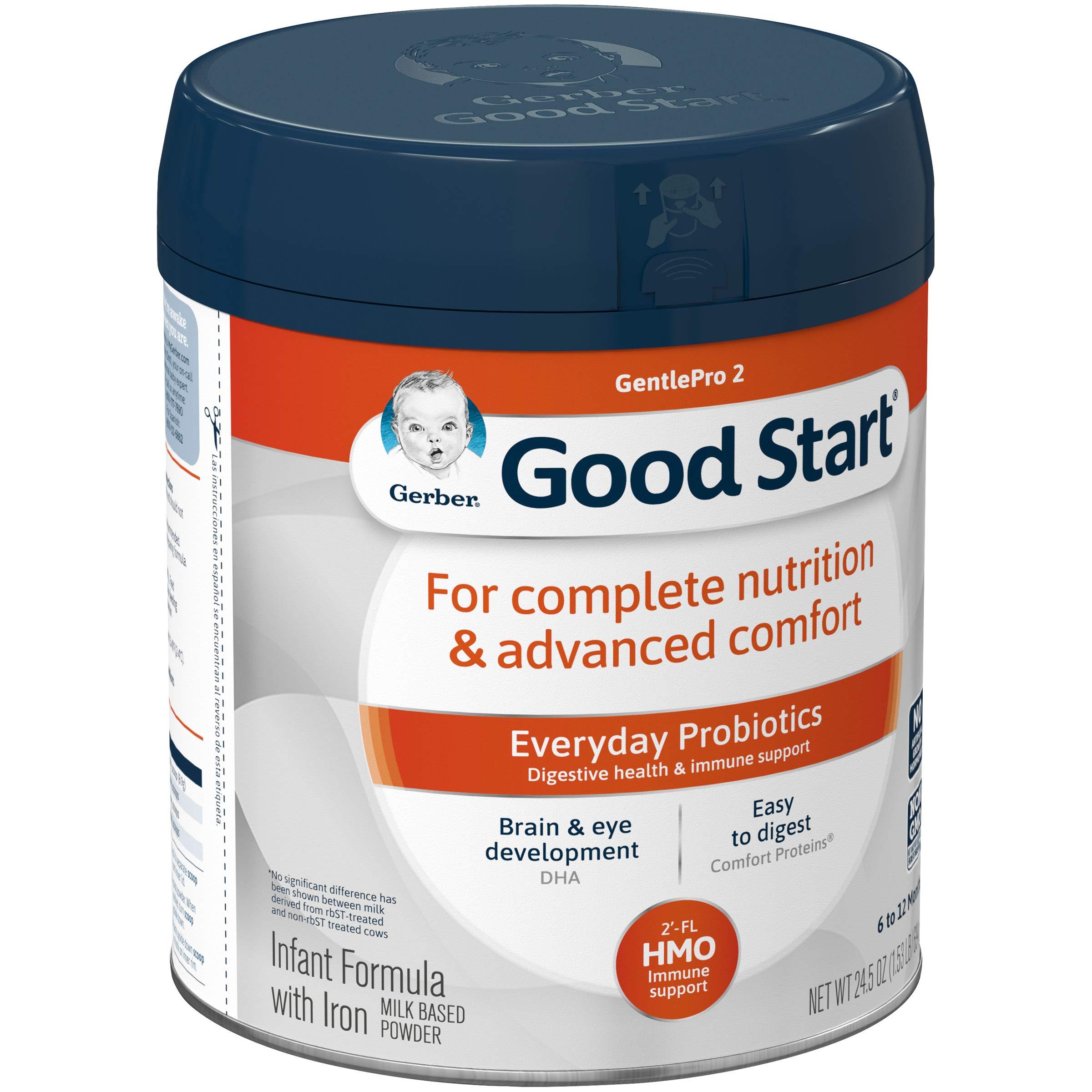 Gerber Good Start Infant Formula Gentle (HMO) Non-Gmo Powder Infant Formula, Stage 2, 24.5 Ounce, 4 Count by Good Start (Image #4)