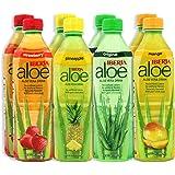Iberia Aloe Vera Drink With Pure Aloe Pulp 16.9 Fl Oz (Pack of 8) No Artificial Color & Flavor, Aloe Juice Variety Pack…