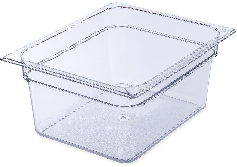 Carlisle 10221B03 StorPlus Half Size Food Pan, Polycarbonate, 4 Deep, Black 4 Deep 10221B03-E
