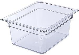 "Carlisle 10222B07 StorPlus Half Size Food Pan, Polycarbonate, 6"" Deep, Clear"