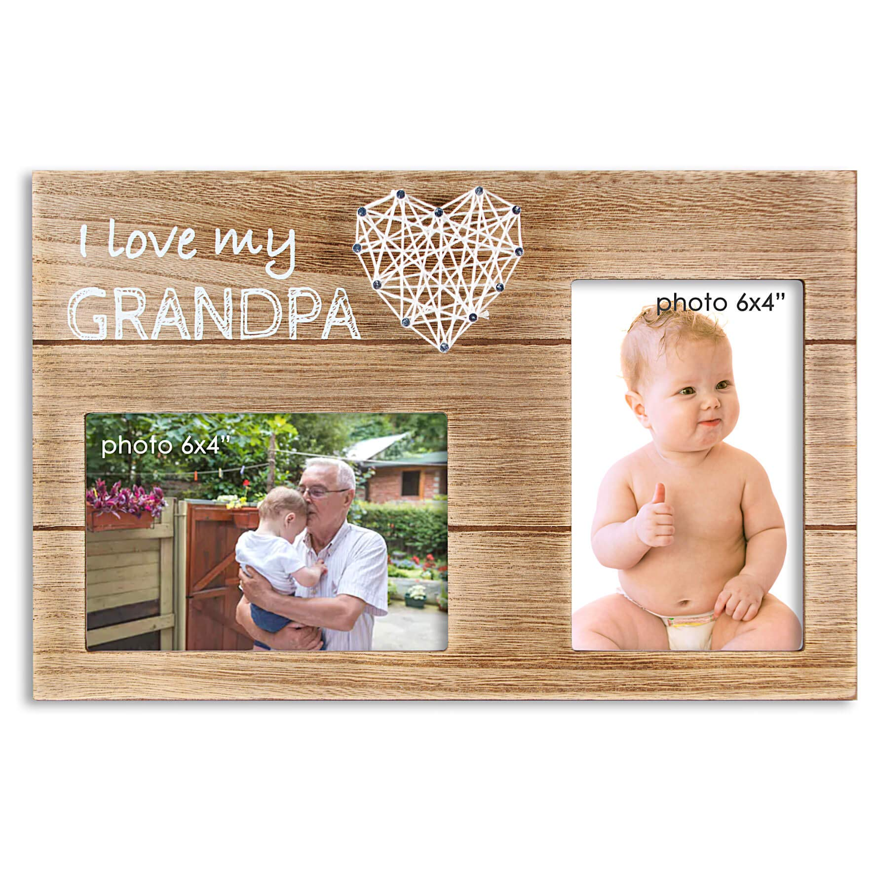 New Grandpa Gifts From Baby Distressed Pearhead Grandma /& Me Keepsake Rustic Picture Frame