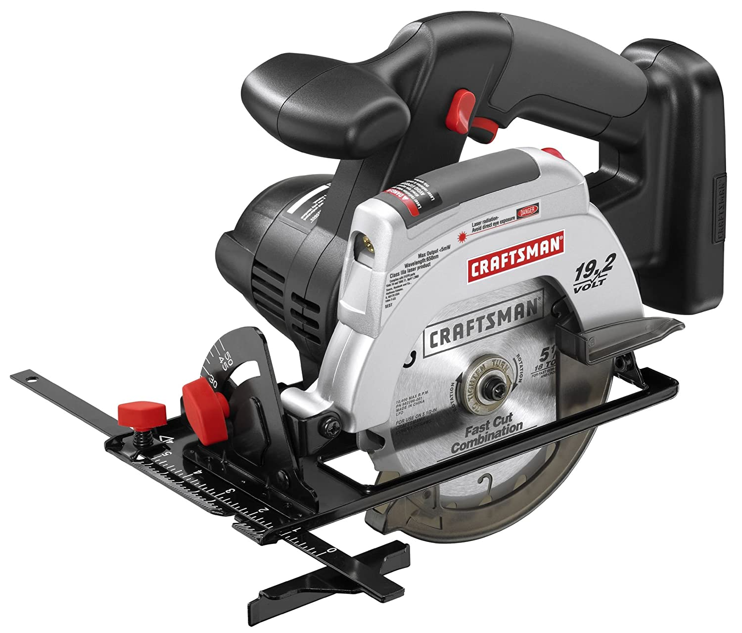"Craftsman C3 19.2 Volt 5 1/2"" Cordless Circular Trim Saw (Tool Only - No  laser model) - Power Circular Saws - Amazon.com"