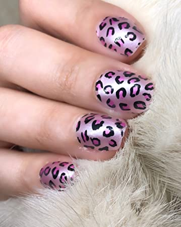 Amazoncom Tiras De Esmalte De Uñas Con Diseño De Leopardo