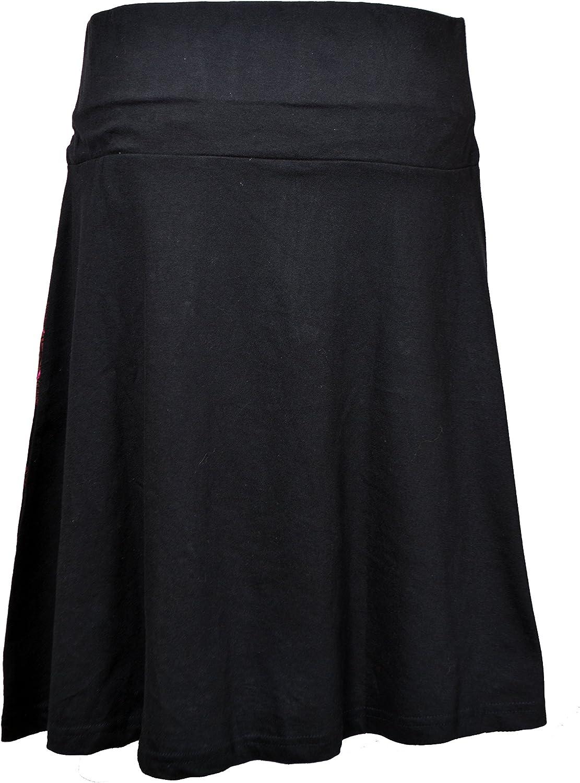 Mandala Falda TATTOPANI hasta la Rodilla Falda Colorida con Cinturilla el/ástica y Embroidery