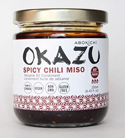 Premium Japanese Miso Chili Oil - Savoury, Umami-Rich Condiment Handcrafted in Canada by