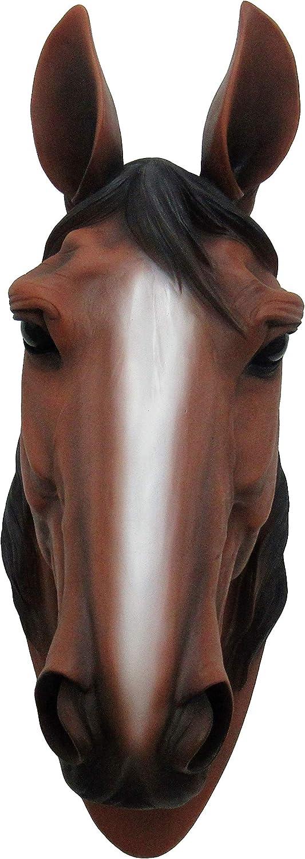 DWK Escultura de Cabeza de Caballo montada en la Pared - Busto de decoración de Arte de Pared equina - Decoración del hogar - Kentucky Belle HD46106