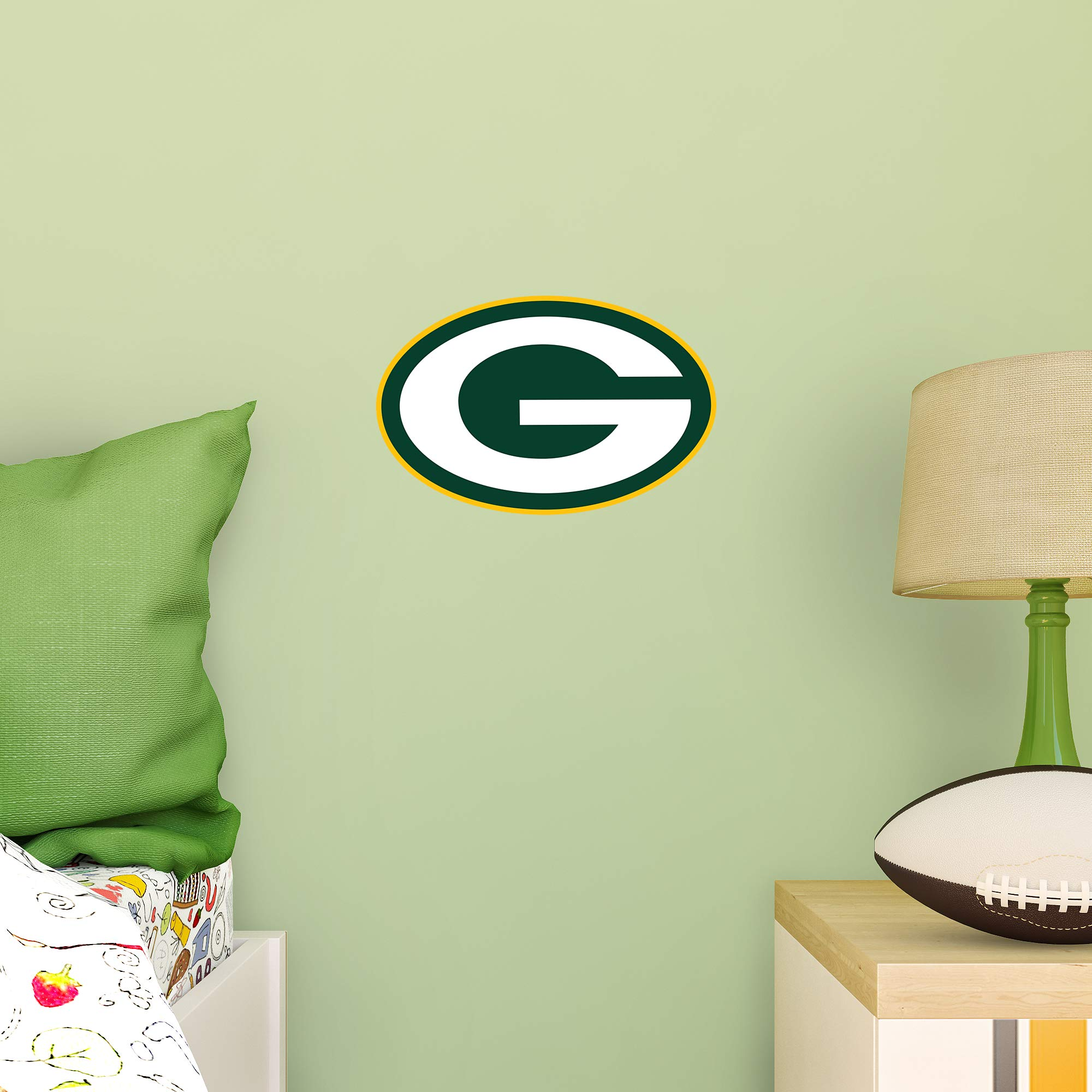 FATHEAD NFL Green Bay Packers - Logo Teammate- Officially Licensed Removable Wall Decal, Multicolor, Large - 89-03352 by FATHEAD