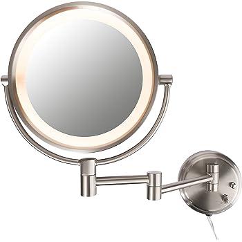 Wnnr Ajl Ac Ss on 15x Lighted Makeup Mirror Wall Mount