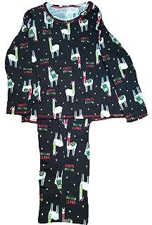 441e1f129b FA-La-La Llama Black 2 Piece Knit Long Sleeve Pajama Sleep Set