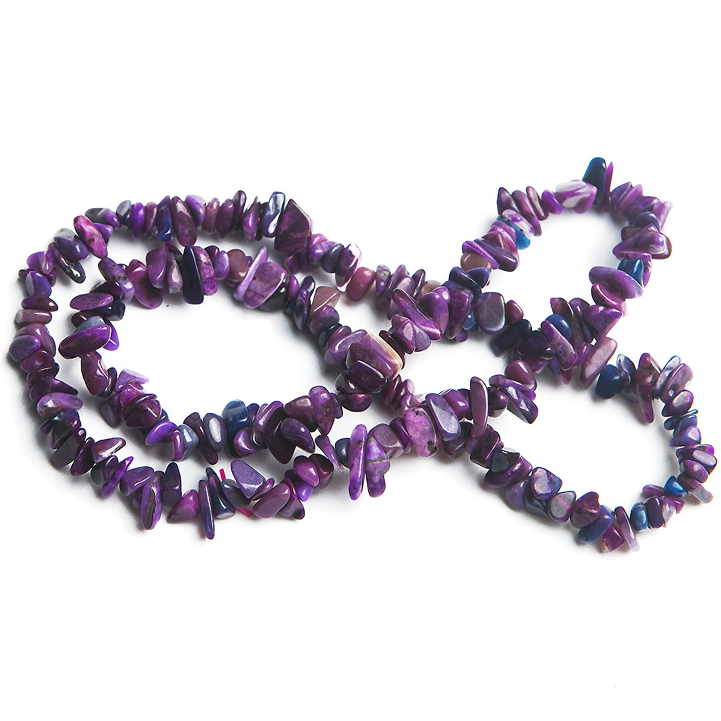 LiZiFang South African Genuine Natural Sugilite Gemstone Three Laps Woman Bracelets