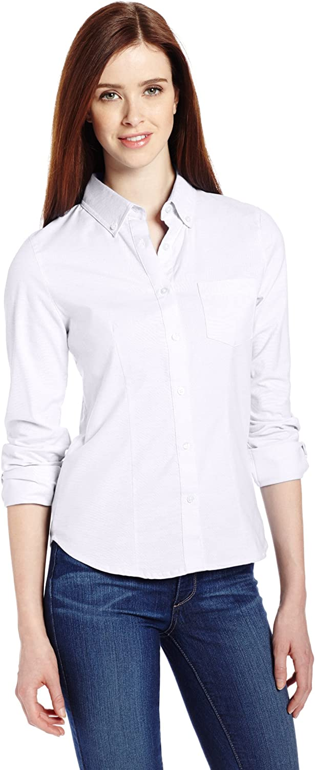B00EV5D8YA Lee Uniforms Juniors' Long-Sleeve Oxford Blouse 812WOkvElUL