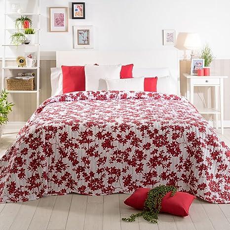 Sancarlos - Colcha bouti floral DAFNE, 100% Poliéster, Color ...