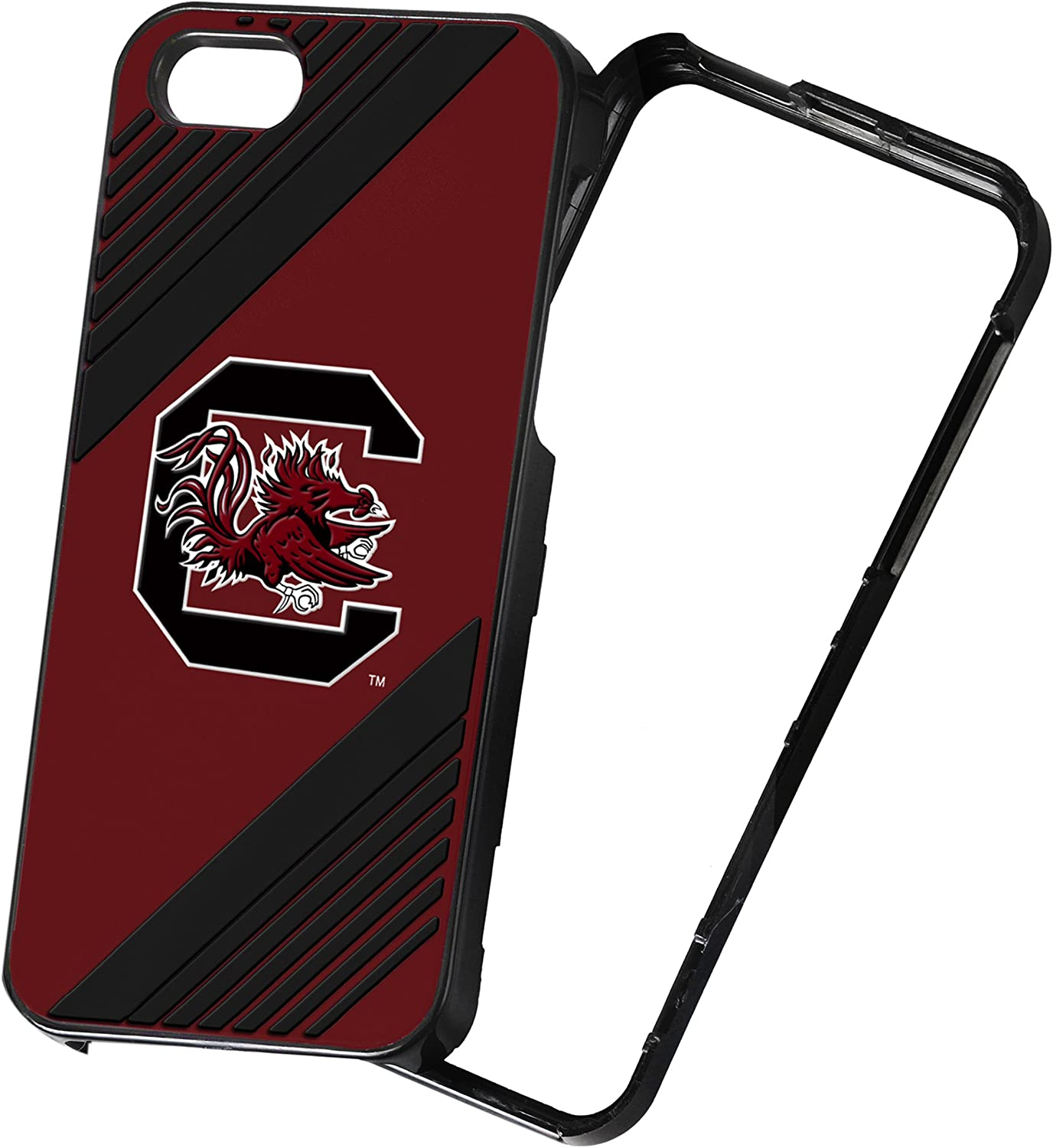 Forever Collectibles NCAA 2-Piece Snap-On iPhone 5/5S Polycarbonate Case - Retail Packaging - FOCO NCAA South Carolina Gamecocks