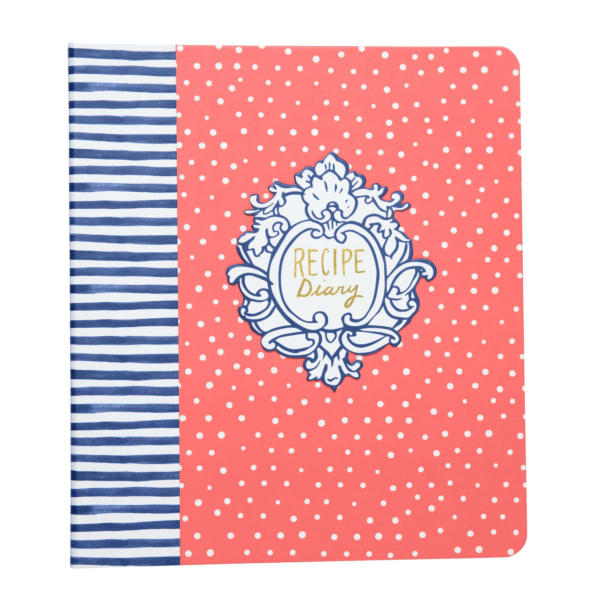 C.R. Gibson Keepsake Recipe Diary, By Molly Hatch, Binder With 12 Divider Tabs, 40 Journal & Recipe Pages, Includes 2 Pages Of Stickers, Measures 8.25'' W x 9.5'' H x 1.75'' D - Flourish