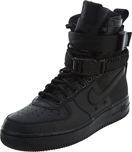 Nike Damen SF Air Force 1 Schwarz Leder Stiefel 44: Amazon ...