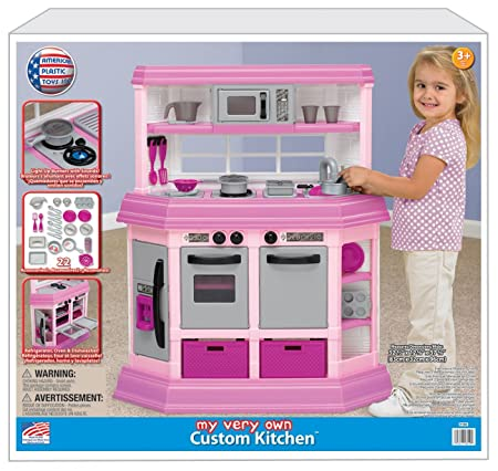 Amazon.com: American Plastic Toy Deluxe Custom Kitchen: Toys & Games