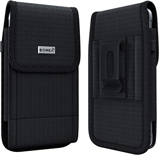 Amazon Com Bomea Rugged Holster Designed For Iphone Se 2020 Iphone 8 7 6s 6 Heavy Duty Nylon Cell Phone Belt Clip Case Pouch Holder Compatible With Iphone Otterbox Case Lifeproof Case Battery Case On Black
