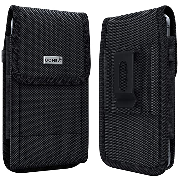 super popular 4771d c4c95 Bomea iPhone Xs Max Holster Case - Rugged Nylon Belt Clip Case Cell Phone  Carrying Pouch Holder Belt Holster Carrying Sleeve for Apple iPhone Xs Max  ...