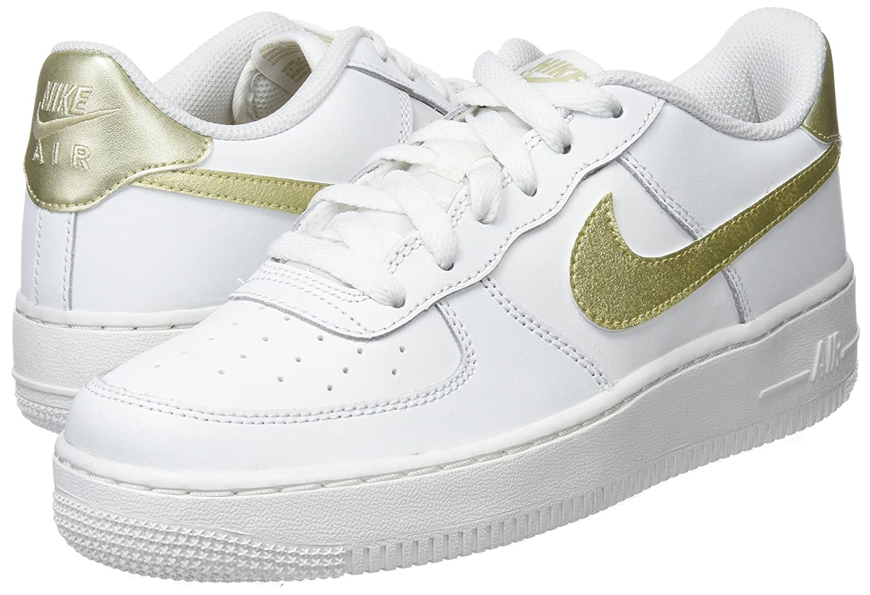 Nike Air Force 1 (GS) B01NBUXEQ8 (GS) Gold Zapatillas de