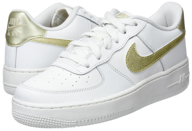 Nike Air Force 1 Zapatillas (GS) Zapatillas Zapatillas 1 White/Mtlc de f25299