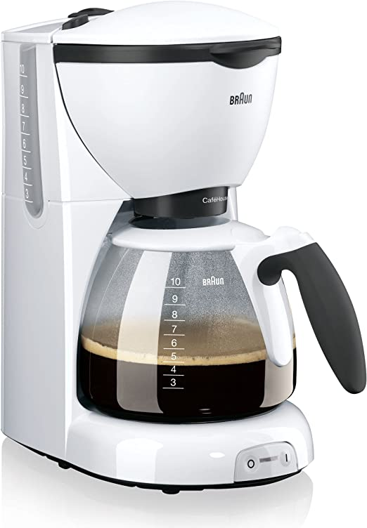 Braun KF 520/1 - Cafetera de espresso manual, color blanco: Amazon ...