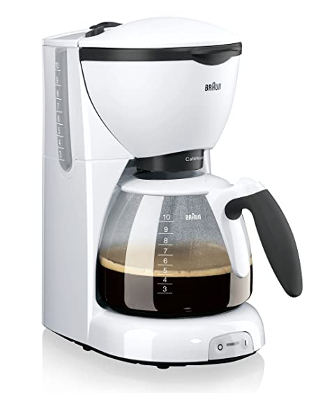 Braun KF 520/1 - Cafetera de espresso manual, color blanco