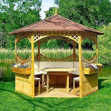 PRIKKER - Pavillons Pabellón Palma V con tejado de betún Madera Carpa Cenador 326 x 326
