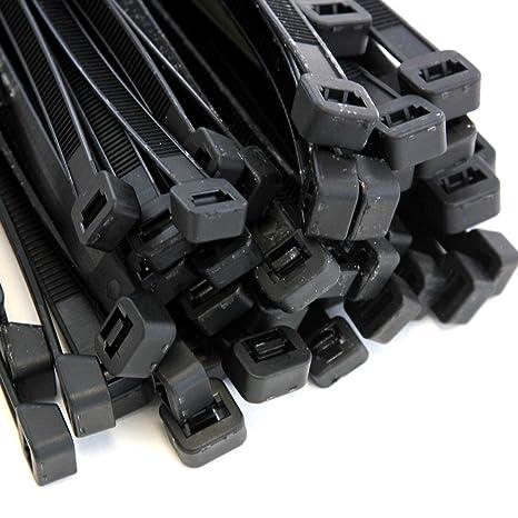 971b33ca7de9 Amazon.com: 100-Pack Heavy Duty 16 Inch Zip Cable Tie Down Strap Wire UV  Black Nylon Wrap: Home Audio & Theater