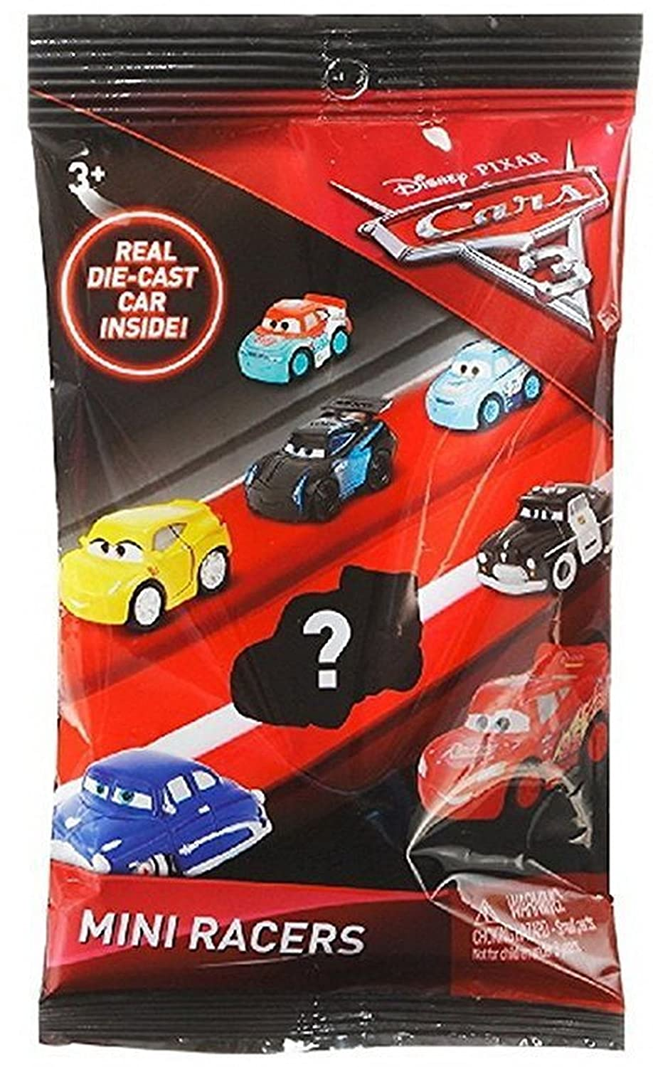 Disney Bundle of 6 Pixar Cars 3 Die-Cast Mini Racers Blind Bags 6 3, Bundle of 6 Pixar Cars 3 Die-Cast Mini Rac, Pack of 6 Mattel