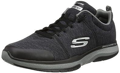 Skechers Men's Burst TR Locust Training Shoe,Black/Charcoal,US ...