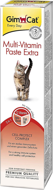 GimCat pasta extra multivitaminas , Aperitivo para gatos nutritivo con vitaminas, nutrientes y Omega 3 y 6 , 1 paquete (1 x 200 g): Amazon.es: Productos para mascotas